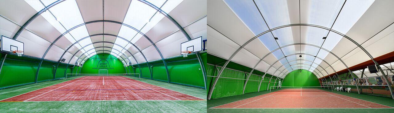 Sport Halls s.c. Arched half-barrel tennis halls
