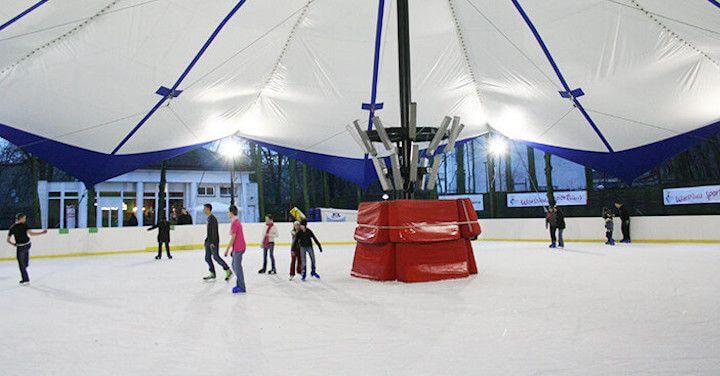 Halls for ice rinks