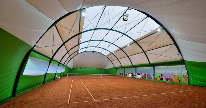 Arched tennis halls
