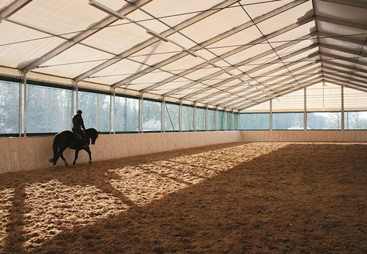 Horse riding halls